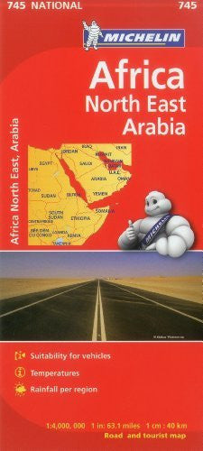 Michelin Map Africa Northeast & Arabia 745 (Maps/Country (Michelin))