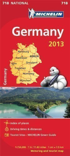 Germany 2013 National Map 718 (Michelin National Maps) by Michelin (2013)