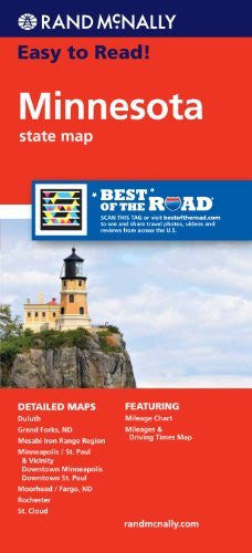 us topo - Rand McNally Easy To Read: Minnesota State Map - Wide World Maps & MORE! - Book - Rand McNally and Company (COR) - Wide World Maps & MORE!