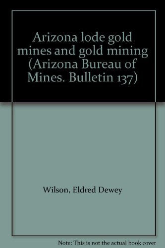 us topo - Arizona lode gold mines and gold mining (Arizona Bureau of Mines. Bulletin 137) - Wide World Maps & MORE! - Book - Wide World Maps & MORE! - Wide World Maps & MORE!