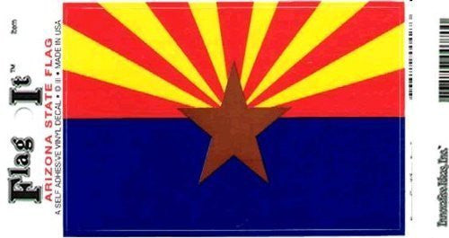 us topo - Arizona Heavy Duty Vinyl Bumper Sticker (3 x 5 Inches) - Wide World Maps & MORE! - Automotive Parts and Accessories - Flag It - Wide World Maps & MORE!