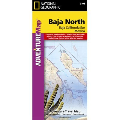 Baja California North, Mexico Map - Wide World Maps & MORE! - Sports - National Geographic Maps - Wide World Maps & MORE!