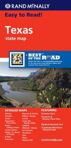 us topo - Rand McNally Easy To Read: Texas State Map - Wide World Maps & MORE! - Book - Rand McNally and Company - Wide World Maps & MORE!