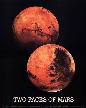 Two Faces of Mars Poster Gloss Lamination