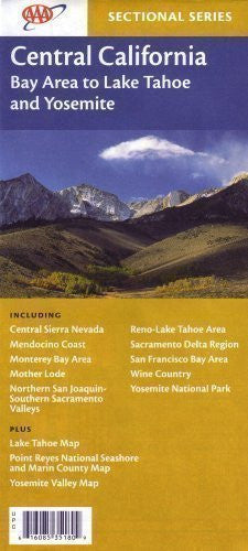 us topo - AAA Central California: Central Sierra Nevada, Mendocino Coast, Monterey Bay Area, Mother Lode, Nort - Wide World Maps & MORE! - Book - Wide World Maps & MORE! - Wide World Maps & MORE!