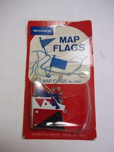 Moore Map Flags, 15 Map Flags, 600A-X, Assorted Colors