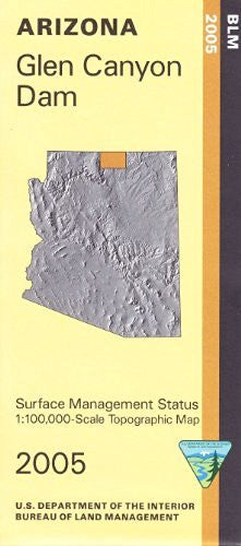 Glen Canyon Arizona 1:100,000 Scale Topo Map Surface Management BLM 30x60 Minute Quad