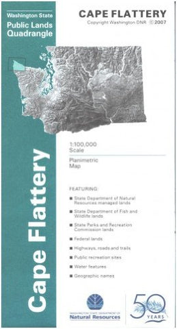 Map: Cape Flattery - Surface Management - Wide World Maps & MORE! - Book - Wide World Maps & MORE! - Wide World Maps & MORE!