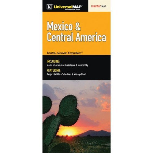 Mexico & Central America Highway Map