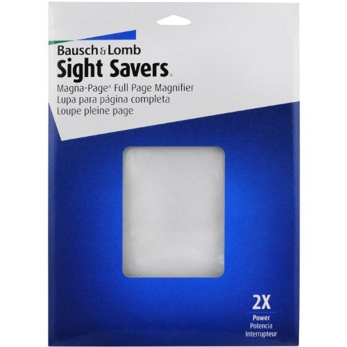 Bausch & Lomb 2X Magna-Page Full-Page Magnifier with Molded Fresnel Lens, 8.25 x 10.75 Inches (819007)