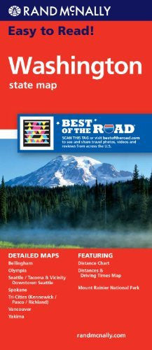 Rand McNally Easy to Read Washington State Map