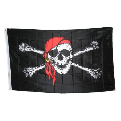 Jolly Roger With Red Hat Pirate Flag