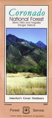 us topo - Coronado National Forest: Sierra Vista and Nogales Ranger Districts (America's Great Outdoors) - Wide World Maps & MORE! - Book - Wide World Maps & MORE! - Wide World Maps & MORE!