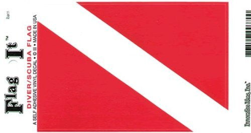 Diver / SCUBA Flag Self Adhesive Vinyl Decal