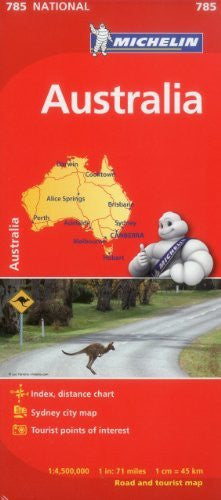 Michelin Australia Map 785 (Maps/Country (Michelin))