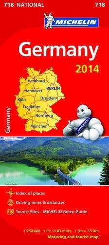 Germany 2014 National Maps 718 (Michelin National Maps)