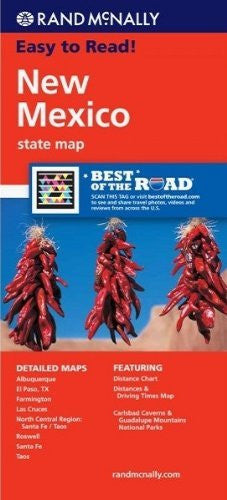 Rand McNally Easy To Read: New Mexico State Map