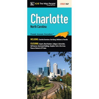 Charlotte Fold Map - Wide World Maps & MORE! - Furniture - Universal Map - Wide World Maps & MORE!