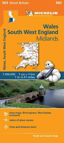 Wales - Michelin Regional Map 503 (Michelin Regional Maps)