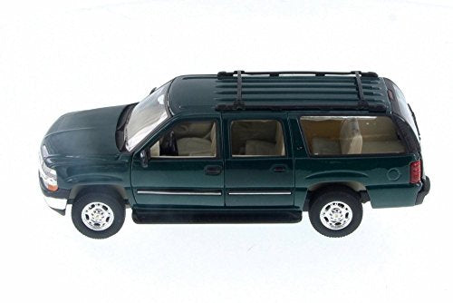 2001 Chevy Suburban, Green - Welly 22090/4D - 1/24 Scale Diecast Model Toy Car (Brand New but NO BOX)