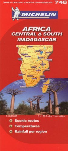 Michelin Map Africa Central South and Madagascar 746 (w/cover) (Maps/Country (Michelin))