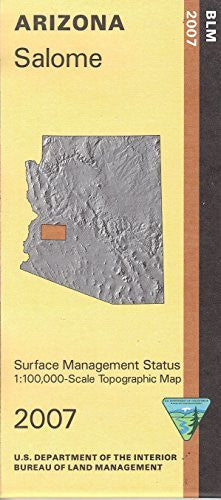 Surface Management Status 1:100,000-scale Topographic Map of Salome, Arizona - Wide World Maps & MORE!
