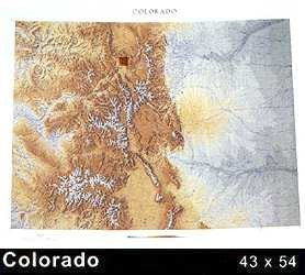 Raven Wall Map For The State Of Colorado - Paper