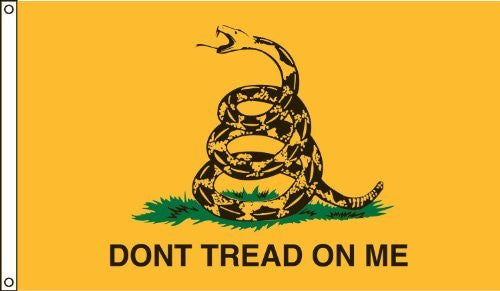Dont Tread On Me Yellow (Gadsden) Flag - 3x5 Foot Poly