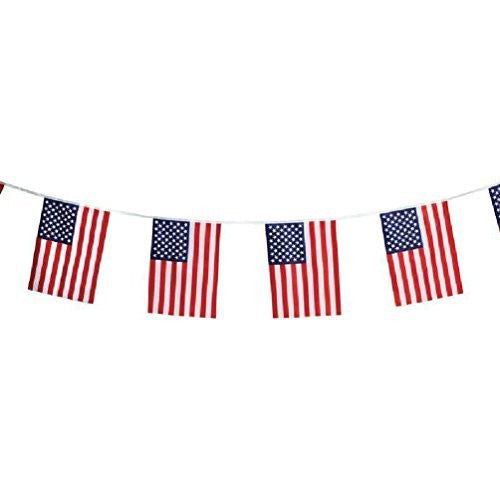 "us topo - 16' String 12""X18"" Us Flag Party Banner Usa American Stars Stripes United States - Wide World Maps & MORE! - Home - CSG Home Service - Wide World Maps & MORE!"