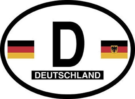 D Germany Oval Reflective Decals 2-Pack