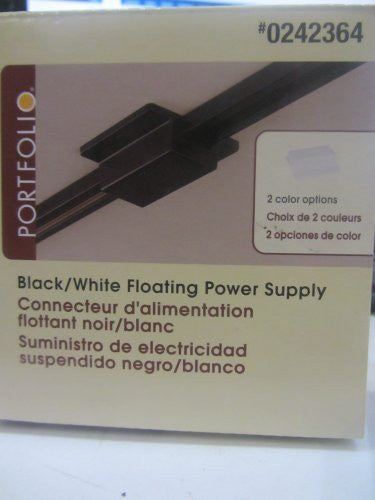 Portfolio Black / White Linear Track Light Floating Power Supply Feed Use to Cover up Ceiling Power Supply