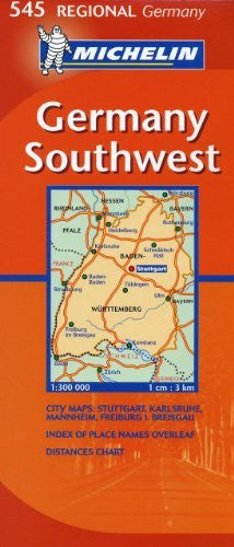 Michelin Map Germany Southwest 545 (Maps/Regional (Michelin))