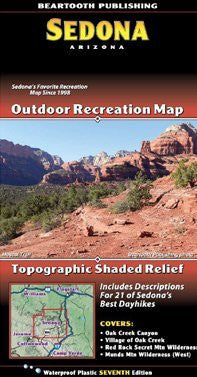 Sedona Core Trails Outdoor Recreation Map (Arizona Maps, 2)