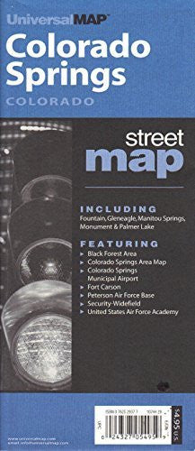 us topo - Colorado Springs, Co (City & County Street Folding Maps) - Wide World Maps & MORE! - Book - Wide World Maps & MORE! - Wide World Maps & MORE!