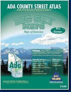 Big Sky Maps 152027 Ada County, ID Street Atlas - Wide World Maps & MORE! - Book - Big Sky Maps - Wide World Maps & MORE!