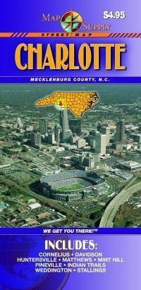 us topo - Charlotte, NC Street Map - Wide World Maps & MORE! - Book - Wide World Maps & MORE! - Wide World Maps & MORE!