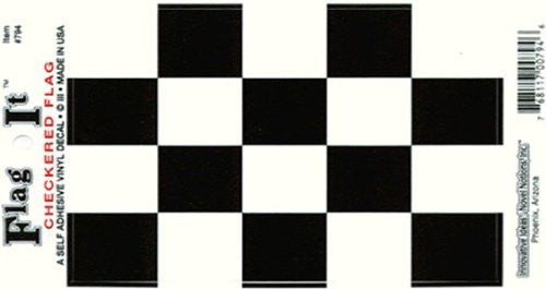 us topo - Checkered Flag Decal (3-1/2 in. x 5 in.) - Wide World Maps & MORE! - Lawn & Patio - FlagandBanner - Wide World Maps & MORE!