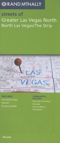 us topo - Rand McNally Streets of Greater Las Vegas North, North Las Vegas/The Strip, NV - Wide World Maps & MORE! - Book - Wide World Maps & MORE! - Wide World Maps & MORE!