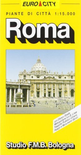 us topo - Roma, pianta della citta: Con linee di trasporto pubblico urbano e Metropolitana A e B (Euro-City) (Italian Edition) - Wide World Maps & MORE! - Book - Wide World Maps & MORE! - Wide World Maps & MORE!