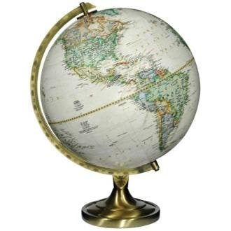 "us topo - Grosvenor Brown Ocean 16 1/2"" High National Geographic Globe - Wide World Maps & MORE! - Home - Universal Lighting and Decor - Wide World Maps & MORE!"
