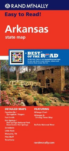 us topo - Arkansas State Map (Rand McNally Easy to Read!) - Wide World Maps & MORE! - Book - Rand McNally and Company (COR) - Wide World Maps & MORE!