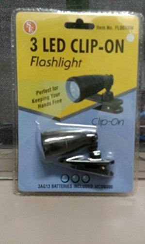 3 LED Clip-On Flashlight