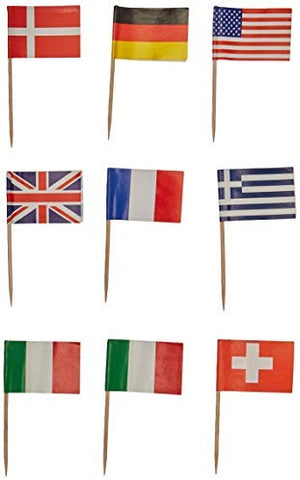 Beistle International Flag Picks (asstd Designs)