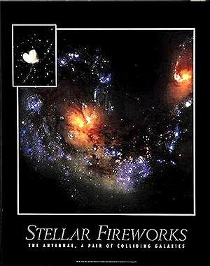 Stellar Fireworks: The Antennae, A Pair of Colliding Galaxies Gloss Laminated