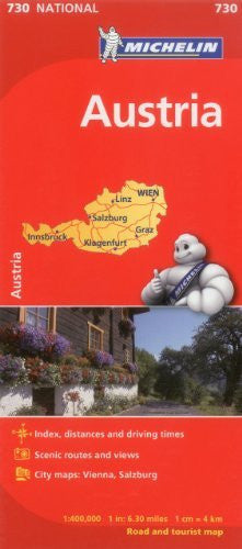 Austria Map 730 1:400K Michelin (Maps/Country (Michelin))