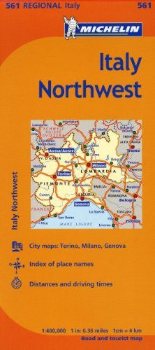 Michelin Italy:  Northwest Map 561 (Maps/Regional (Michelin))