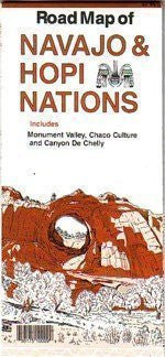 Road Map of Navajo & Hopi Nations