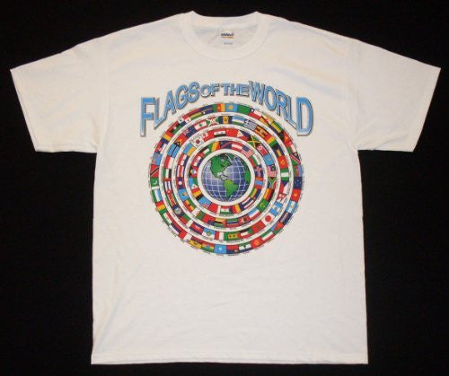 us topo - Flags of the World Shirt (M) - Wide World Maps & MORE! - Sports - Gildan - Wide World Maps & MORE!
