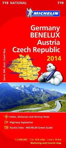 Germany Benelux Austria Czech Republic 2014 National Map 719 (Michelin National Maps)