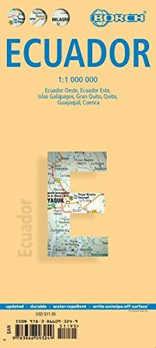 Laminated Ecuador Map by Borch (English Edition)